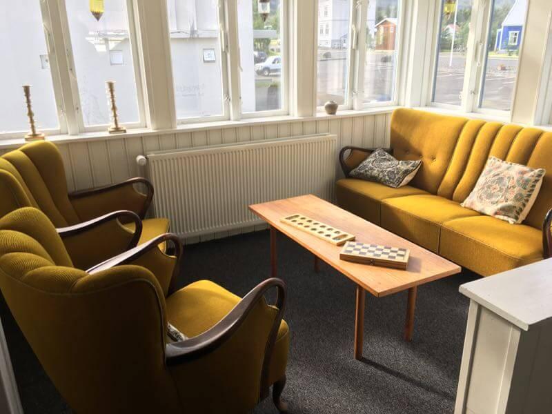 il salotto dell' albergo Snæfell