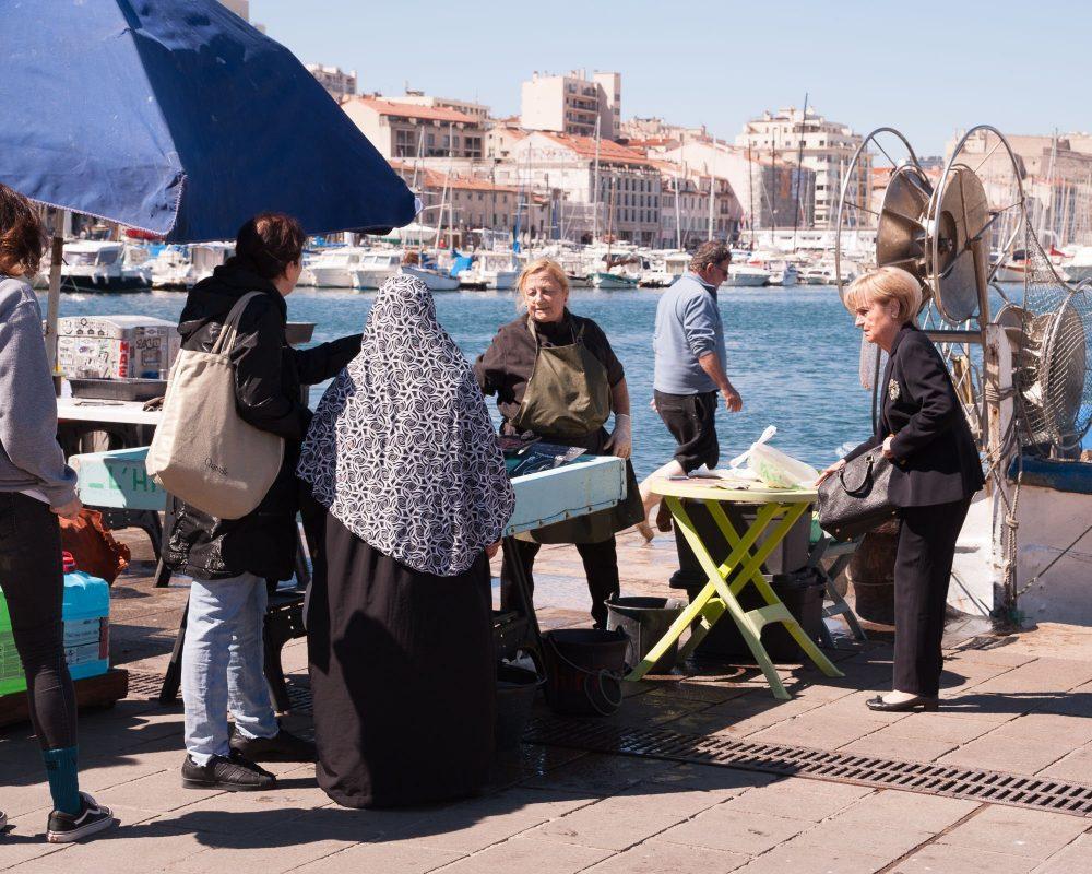 Marsiglia porto pesce