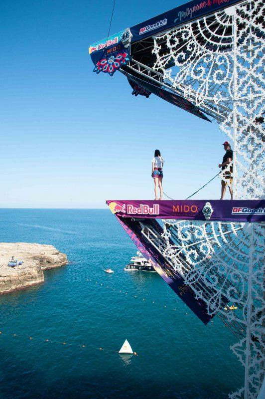 Red Bull Cliff Diving a Polignano a Mare visita alla platform